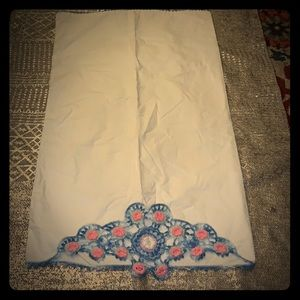 ESTATE ITEM Handmade Embroidered Pillow case